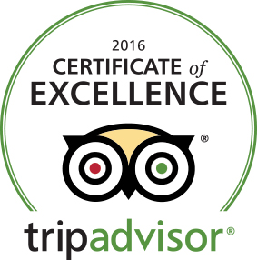TripAdvisor - Certificate of Excellence 2016